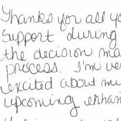 testimonial image from happy patient of Julene Samuels MD